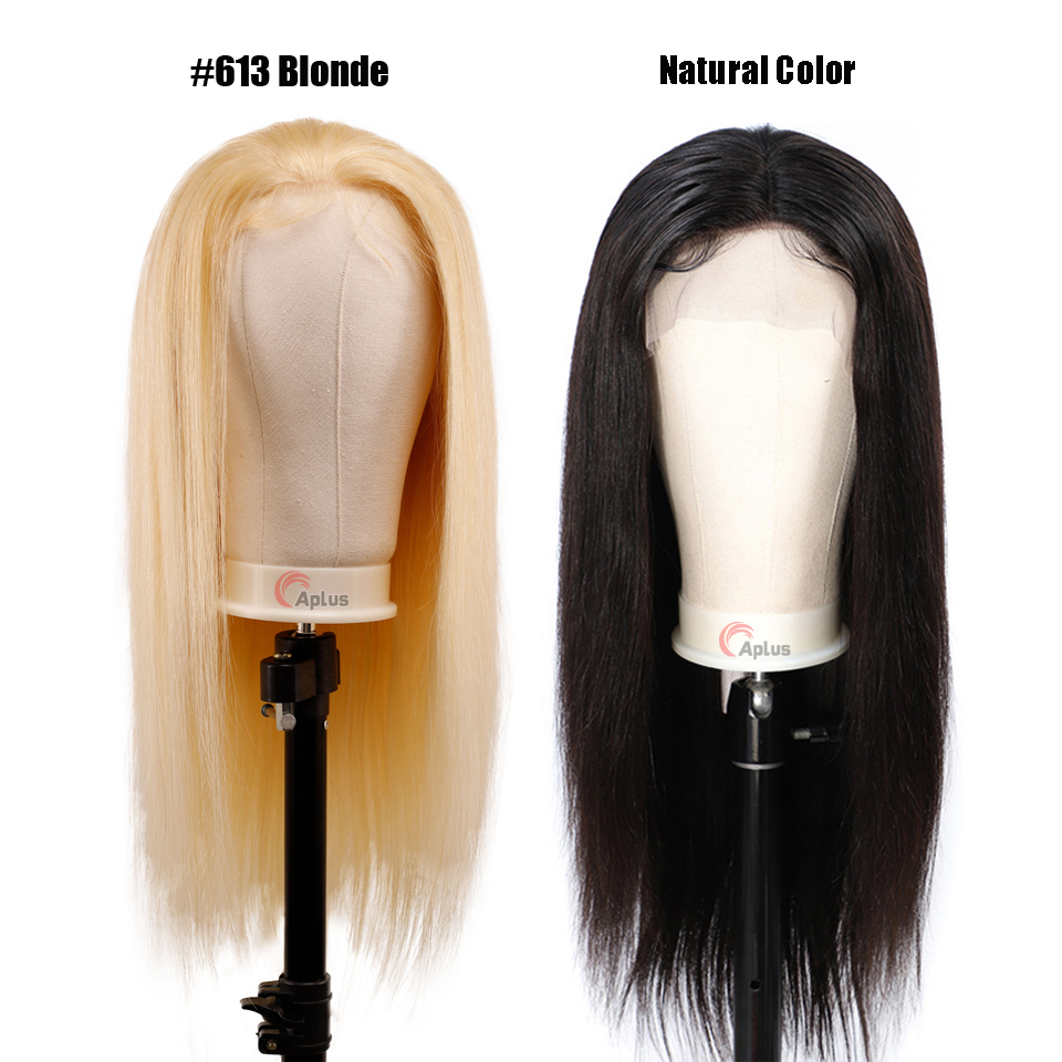 613 Wig Glueless 150 Density Long Blonde Lace Front Remy Human Hair Wig Pre Plucked 13*4 Straight 613 Blond Lace Frontal Wigs