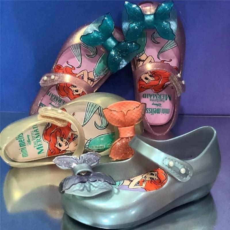 Girls 2020 New Mini Melissa Mermaid Jelly Shoes Kids Beach Sandals Children Princess Candy Non-slip Melissa Sandals SH19107
