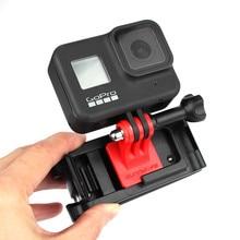Esportes câmera mochila braçadeira universal clipes ajustáveis para gopro 8 osmo ação osmo bolso