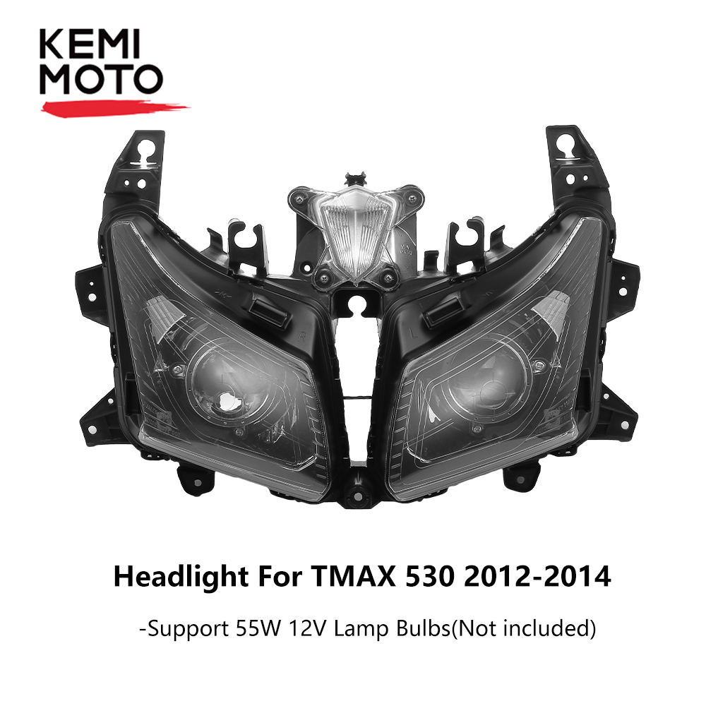 TMAX-530 Motorcycle Headlight  Front  Head Light  Headlamp For Yamaha TMAX530 TMAX 530 2012-2014 2013 Clear feu led tmax 530