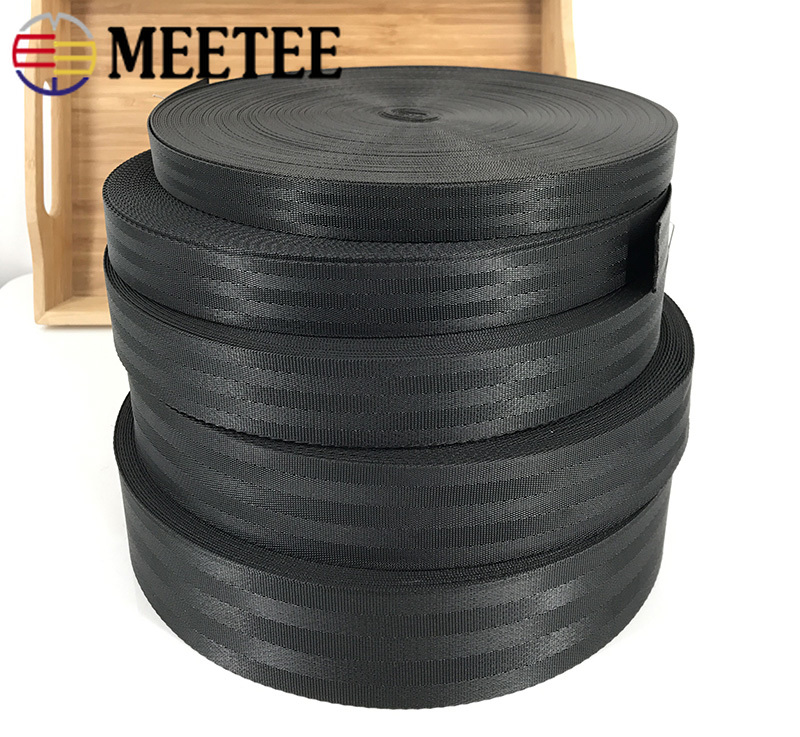 Meetee 5meters 25-50mm Polyester Nylon Webbing Tape DIY Manual Child Safety Seat Backpack Pet Strap Belt Crafts Material RD003