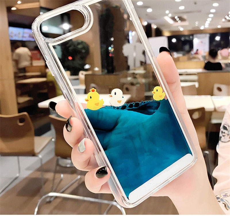 H0c2a8f77a6fa454cab8e1f66b0e228701 - Luxury Cartoon 3D Swimming Duck for iPhoneXS Animal Dynamic Liquid Quicksand Cover For iPhone 5 5S 5SE 6 6S 7 8 Plus Phone Cases