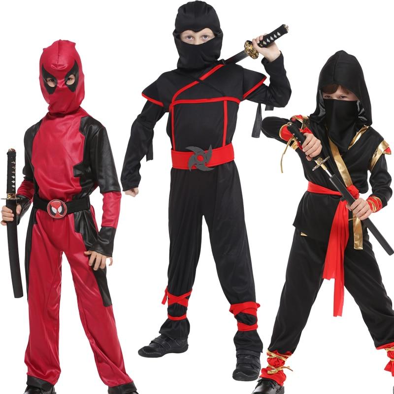 Halloween Costumes children Boys Dragon Ninja Costume Girls Warrior Cosplay Carnival Party Fancy Dress Up for Kids Children    - AliExpress