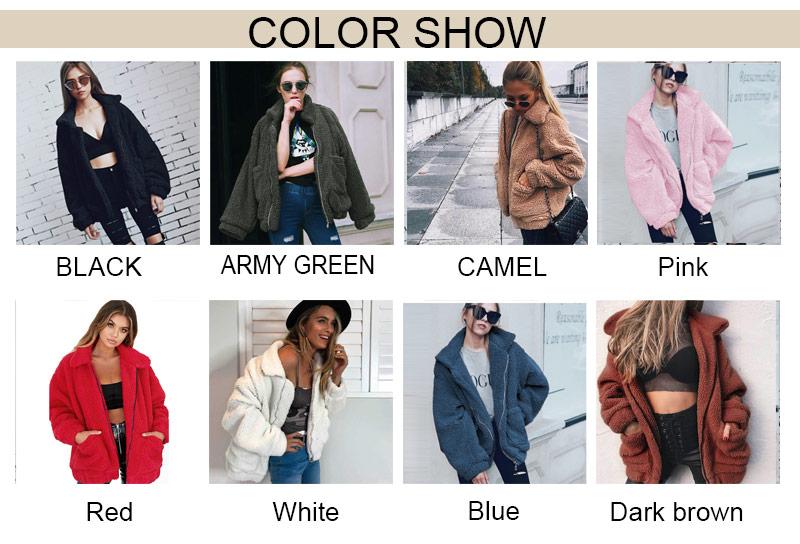 H0c2ad6410ad044bc856d53b6d8160245J Autumn winter jacket female coat 2019 fashion korean style plus size women teddy fur coat female casual jacket woman pusheen
