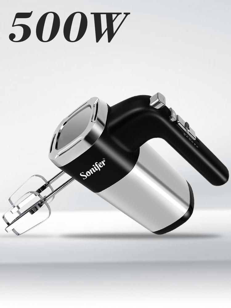 Sonifer Hand-Blender Egg-Beater Dough Electric Kitchen 500W for 220V Speeds High-Power