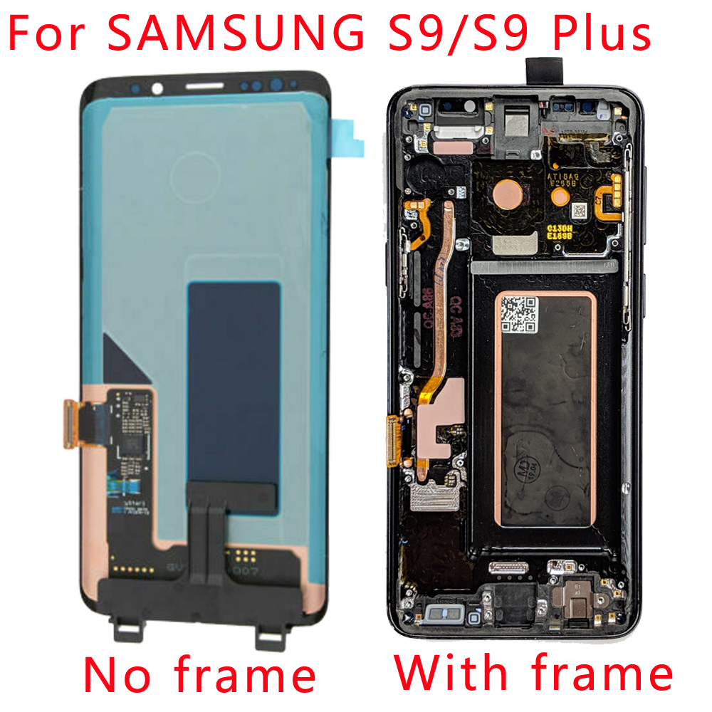 SUPER <font><b>AMOLED</b></font> lcd for <font><b>SAMSUNG</b></font> Galaxy <font><b>S9</b></font> <font><b>S9</b></font> Plus G960 G965 LCD Display Touch <font><b>Screen</b></font> Digitizer with Frame image
