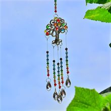 suncatcher gemstone tree life haning crystal window prims adorn origial design wonderful housewarming gifts home chakras gifts