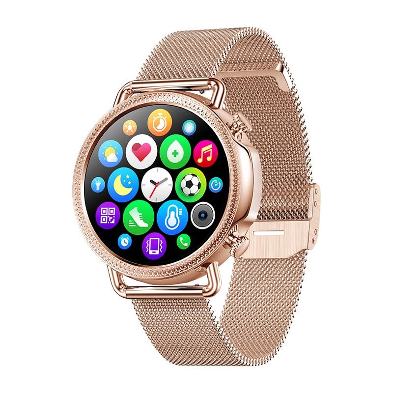2021 Women Smart Watch 1 28 inch HD Screen IP67 Waterproof Lady s Watches Body Temperature Innrech Market.com