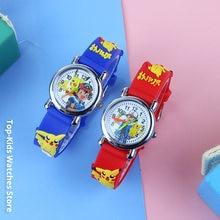 Novo 3d dos desenhos animados crianças relógios para meninas de borracha alta qualidade estudantes meninos quartzo relógios pulso reloj infantil