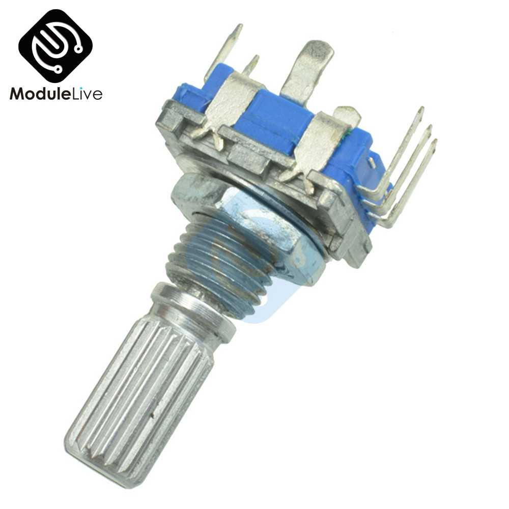 EC11 סיבובי מקודד Diy אודיו דיגיטלי פוטנציומטר עם מתג ידית 20mm EC11 מתג כלים