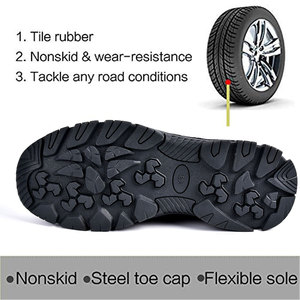 Image 3 - SUADEEX Work Shoes Men Safety Shoes Unisex Air Mesh Work Boots Men Sneakers Anti smashing Steel Toe Footwear Safety Boots Male