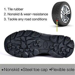 Image 3 - SUADEEX рабочая обувь, Мужская защитная обувь, унисекс, сетчатые рабочие ботинки, мужские кроссовки, Противоударная обувь со стальным носком, защитные ботинки для мужчин