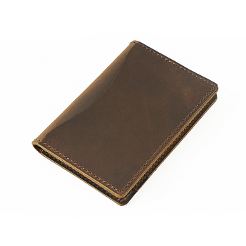 New Arrivals Men Credit ID Card Holders Rustic Crazy Horse Leather Customized Business Unisex Wallet Cardholder Wholesale - discount item  49% OFF Wallets & Holders