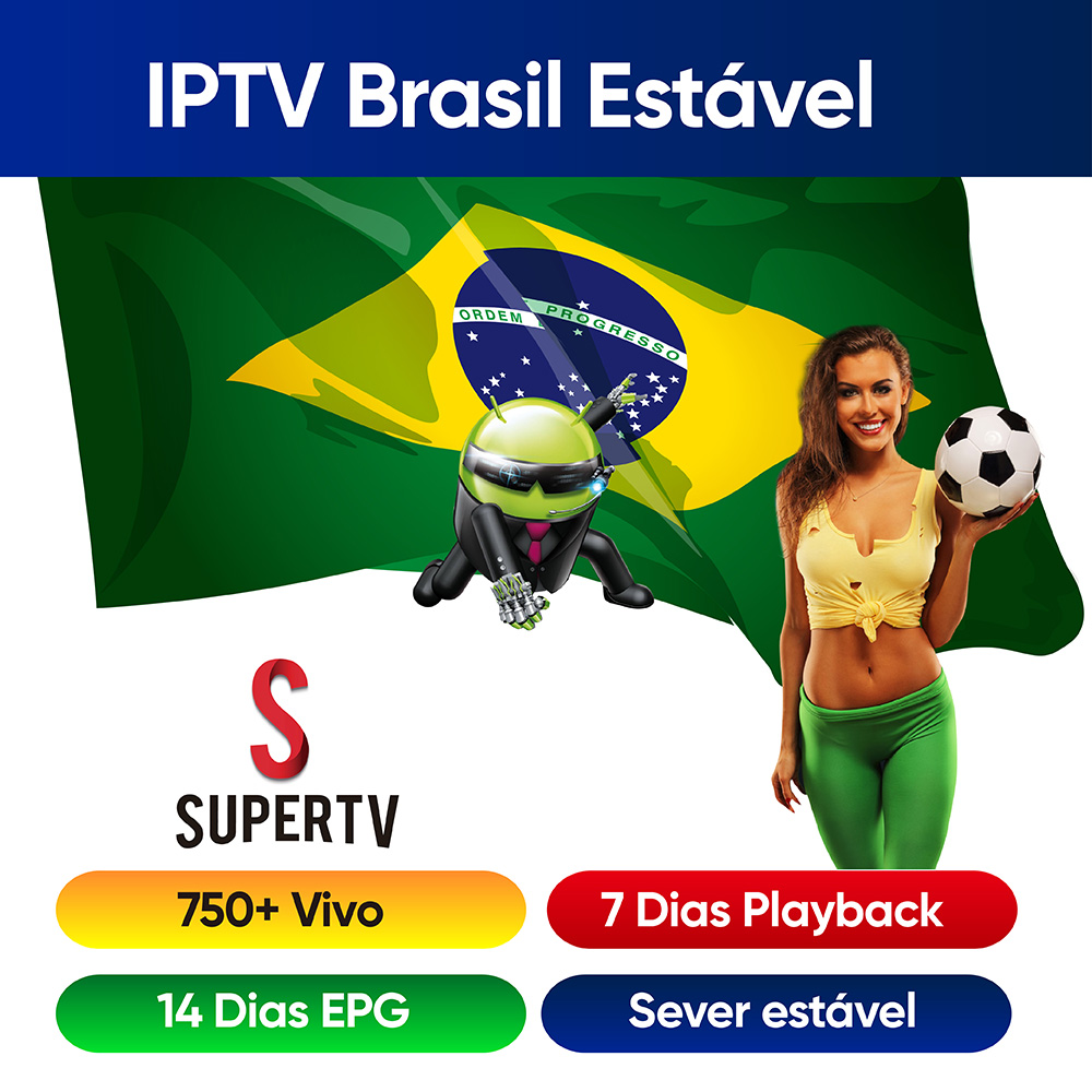 Supertv 1 Year IPTV Brazil 750+ Live EPG Playback Portuguese IPTV 24h Hot Club Live For Android Tv Box Android Phone IPTV Brazil