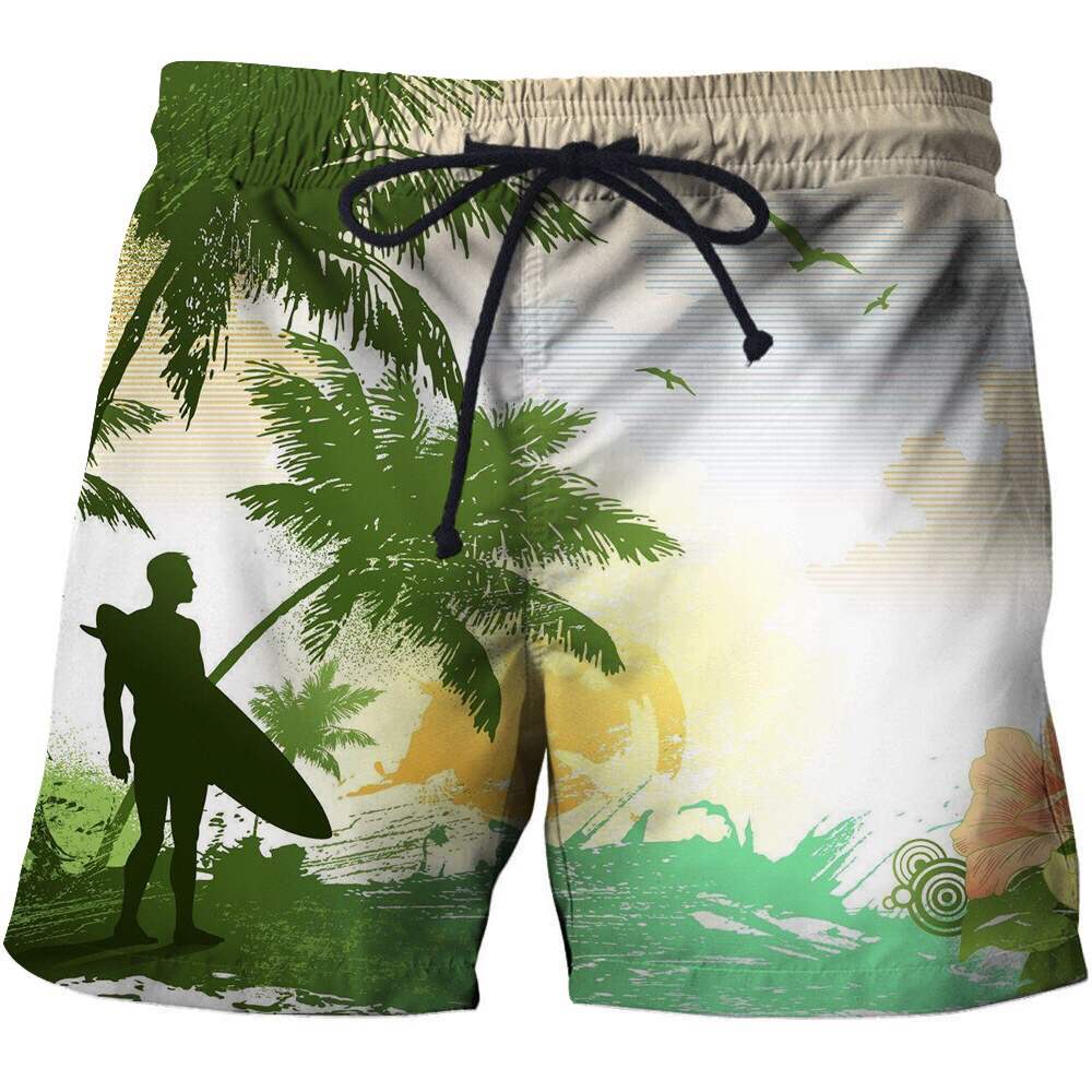 Mens <font><b>Shorts</b></font> Summer Casual Cargo <font><b>Board</b></font> Beach <font><b>Shorts</b></font> Bermuda Homme Coconut Tree Print Hip Hop Male Boardshorts Brand Plus Size <font><b>6XL</b></font> image