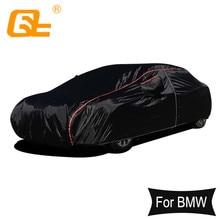 210T Universele Full Car Covers Outdoor Voorkomen Sneeuw Zon Regen Dust Vorst Wind Zwart Voor Bmw 3 Serie 5 serie M3 M4 X3 X5 X1