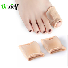 цена на 2PCS Silicone Gel Bunion Toe Correction Hallux Valgus Braces Separator Splint Adjuster Thumb Big Bone Corrector Tube Foot Care