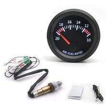 52mm  Car Auto Air Fuel Ratio Gauge 10 20 With Narrowband O2 Oxygen Sensor Car Gauge Fit for 12V Car OEM: 0258006028