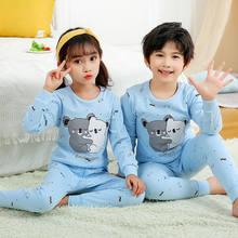 Novo inverno algodão crianças pijamas roupas terno menino menina pijamas animal dos desenhos animados pijamas conjunto bebê inflante roupas da criança