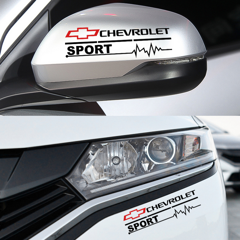 2pc Car Styling Rearview Mirror Front Bumper Sticker Decal For Chevrolet Cruze Captiva Lacetti Aveo Niva Trax Onix Accessories