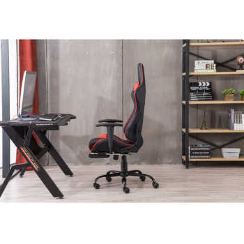 High Back Swivel Chair Racing Gaming Chair Office Chair with Footrest Tier Black & Red LOL Internet Cafes Sports Racing Chair - DISCOUNT ITEM  20 OFF Furniture