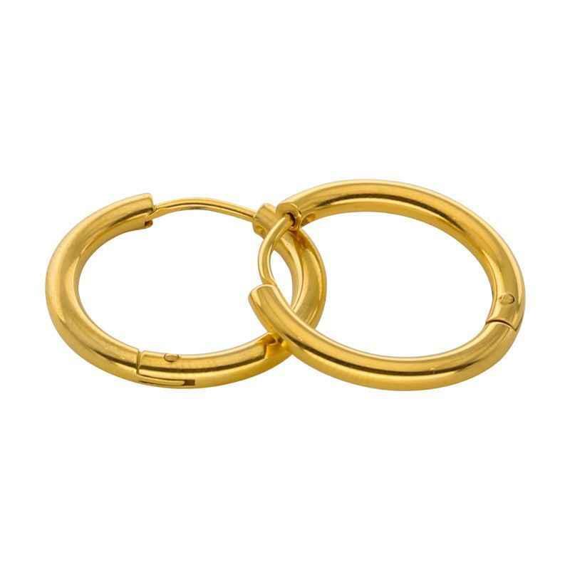 1pc פאנק גברים פולני חלק חישוק עגילי נירוסטה מעגל עגיל לנשים גברים מתנות תכשיטי אוזן פירסינג 10-20mm