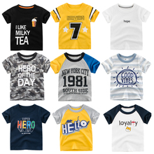 Kids t shirt Summer letter Print Short Sleeve Baby Girls T-shirts Cotton Children O-neck Tee Tops Boy teenage clothes casual letter print jewel neck short sleeve tee for women
