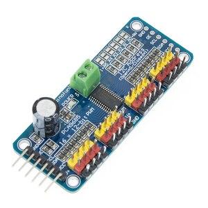 Image 5 - 10pcs/lot 16 Channel 12 bit PWM/Servo Driver I2C interface PCA9685 module or Raspberry pi shield module servo shield