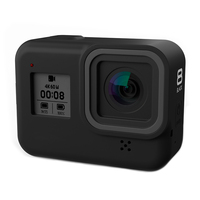 Силиконовый чехол для GoPro Hero 8, черное закаленное стекло, защита экрана, защитная пленка для объектива, чехол для Go Pro 8, аксессуары 3
