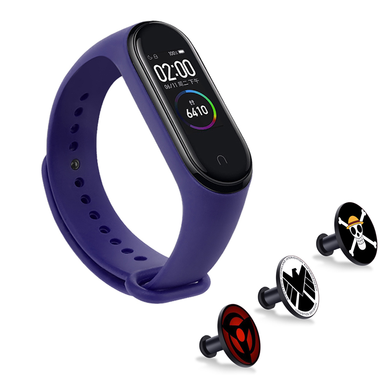 For Mi Band 4/3 Silicone Wrist Strap For Xiaomi Miband 4 Will Not Fade Metal Button Accessories Bracelet Miband 4 Charging Cable