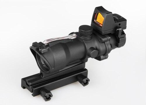 TRIJICON Acog 4x32 mira óptica mira telescópica Cahevron retícula fibra verde rojo iluminada mira óptica con Rmr Mini punto rojo vista Juego de 12 unidades de herramientas ópticas para FTTH, con filtro de fibra de SKL-8A y medidor de Potencia Óptica, localizador Visual de fallos en 5km