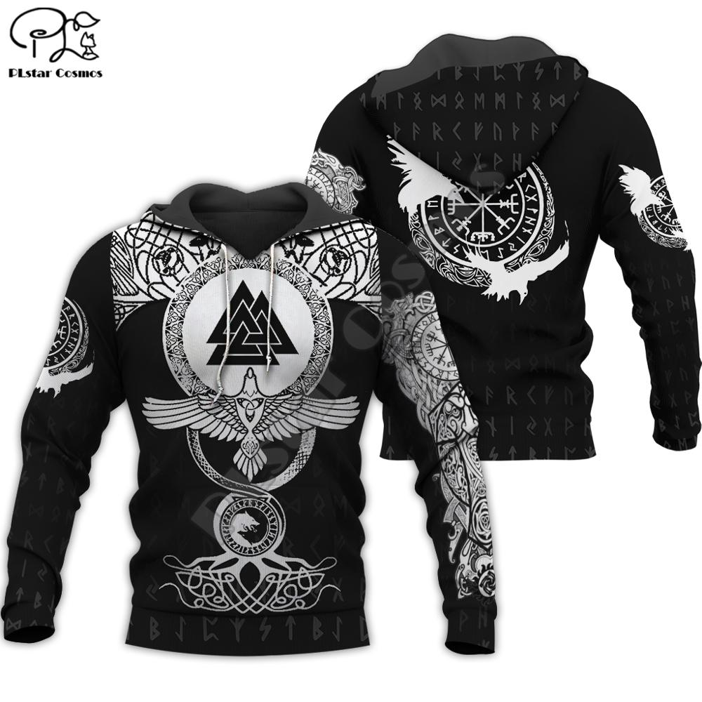 PLstar Cosmos Viking Warrior Tattoo New Fashion Tracksuit Casual Colorful 3D Print Hoodie/Sweatshirt/Jacket/Men Women S10
