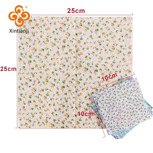 24*25Cm Or 10*10Cm Cotton Fabric Printed Cloth Sewing Quilting Fabrics For Patchwork Needlework DIY Handmade Accessories T7866 3