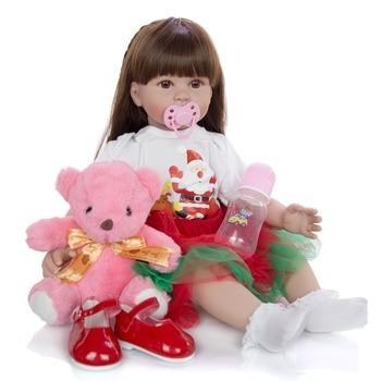 24inch bebes reborn toddler princess girl doll Silicone vinyl baby reborn bonecas menina realista reborn toy gift dolls