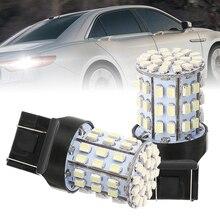 Mayitr 2pcs 7443 64LED Backup Reverse Light Bulb Super White Car Signal Lamp for 7440 7444 7441 992 992A W21W