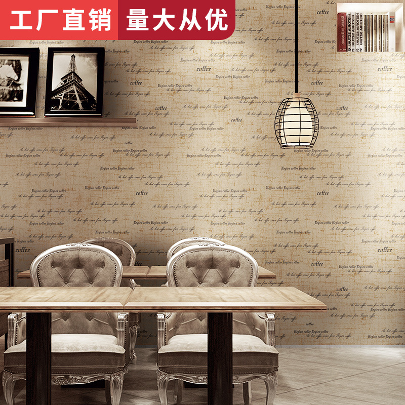 Bar Coffee Shop Restaurant Clothing Store Wallpaper Fashion WOMEN'S Dress Black And White With Pattern Wallpaper English Lettere