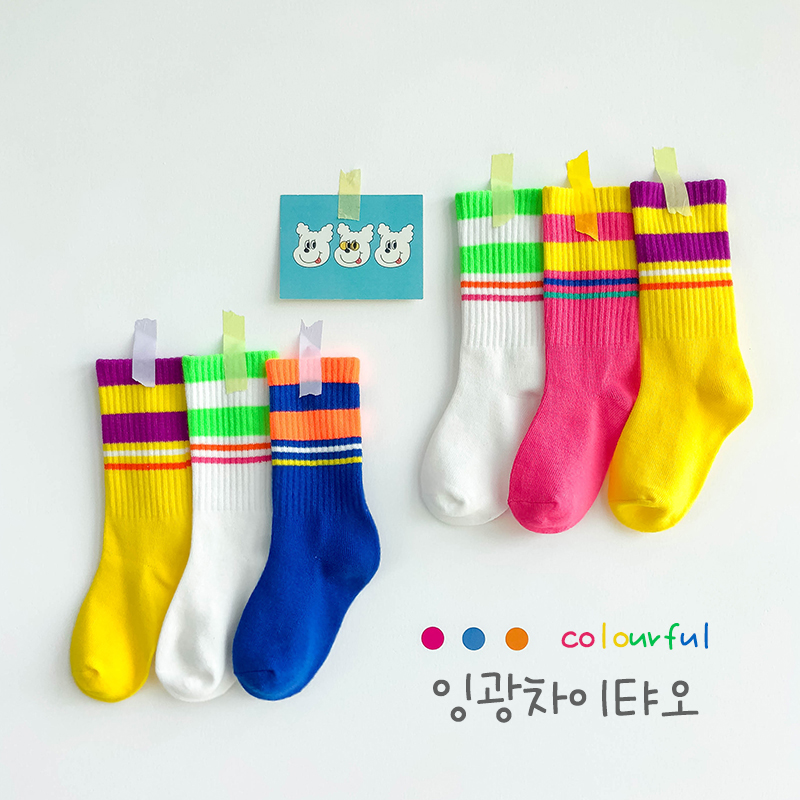 2019 New Girls Knee High Fashion Socks Kids Winter Socks For Autumn Baby Toddle Boy Long Socks Striped 1-8y