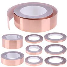 30 Meters Single Side Conductive Copper Foil Tape Strip Adhesive EMI Shielding Heat Resist 5mm 6mm 7mm 8mm 10mm
