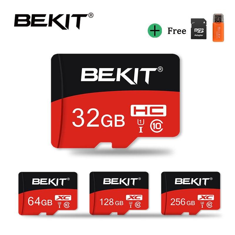 Высокоскоростной Micro SD карта Bekit 4 ГБ 8 ГБ 16 ГБ 32 ГБ класс 10 UHS1 карта памяти MicroSD 64 Гб 128 ГБ 256 ГБ UHS-3 мини флэш-карта TF карта cartao de memoria для камеры те...