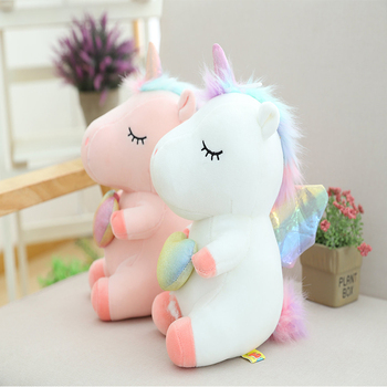 New Soft And Cute Unicorn Toy Plush Toy Animal Horse Children's Doll Birthday Gift 25CM cute resin bride and bridegroom toy doll