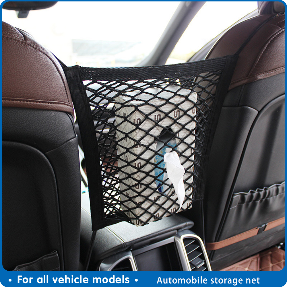 Universal Car Organizer Net Mesh Trunk Goods Storage Seat Back Stowing Tidying Mesh In Trunk Bag Network Interior Accessories