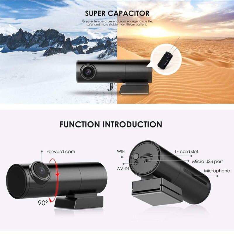 Mini Hidden Car Dash Cam DVR with WiFi Dual Lens Car Camera dash cam wifi dual dash cam dual wifi car dash camera wifi dash cam 3