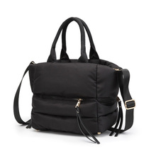 New Winter Shoulder Bag Space Bale Handbag Woman Casual Cotton Totes Down Feather Padded Soft  Ladies Crossbody