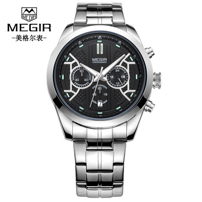 Luxury Brand Men Sport  Watches Dive 30M Nylon&Leather Strap LED Watches Men Top Brand Quartz Waterproof  Watch|Quartz Watches| |  - title=