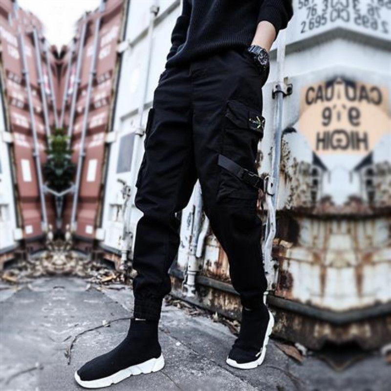 Men 2019 Autumn Harem Cargo Pants Men's Casual Hip Hop Street Style Trousers Male High Street Cuffed  Joggers Plus Size M-5XL
