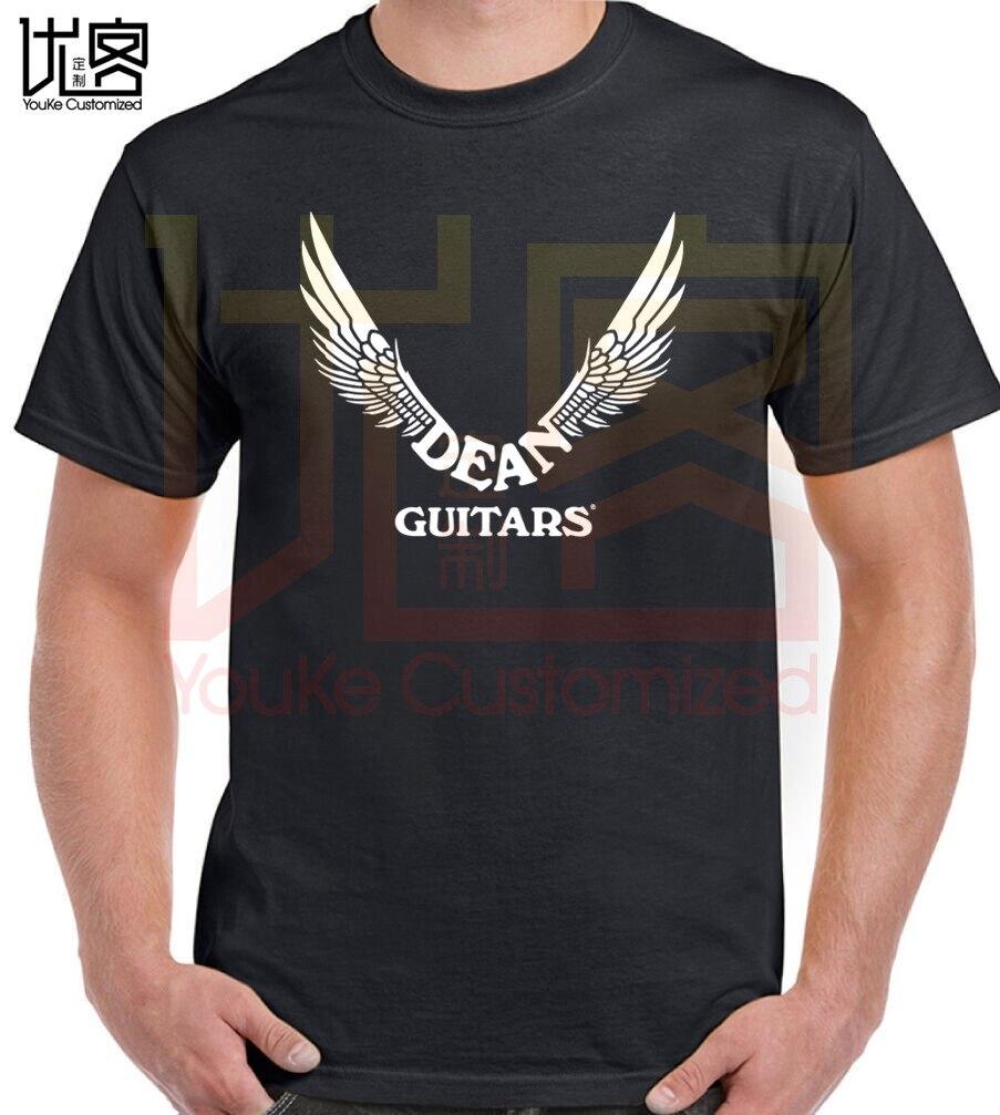 New Dean Guitars Logo Short Sleeve Black Men's T-Shirt Size S-3XL New T-Shirt Men Fashion T Shirts Top Tee