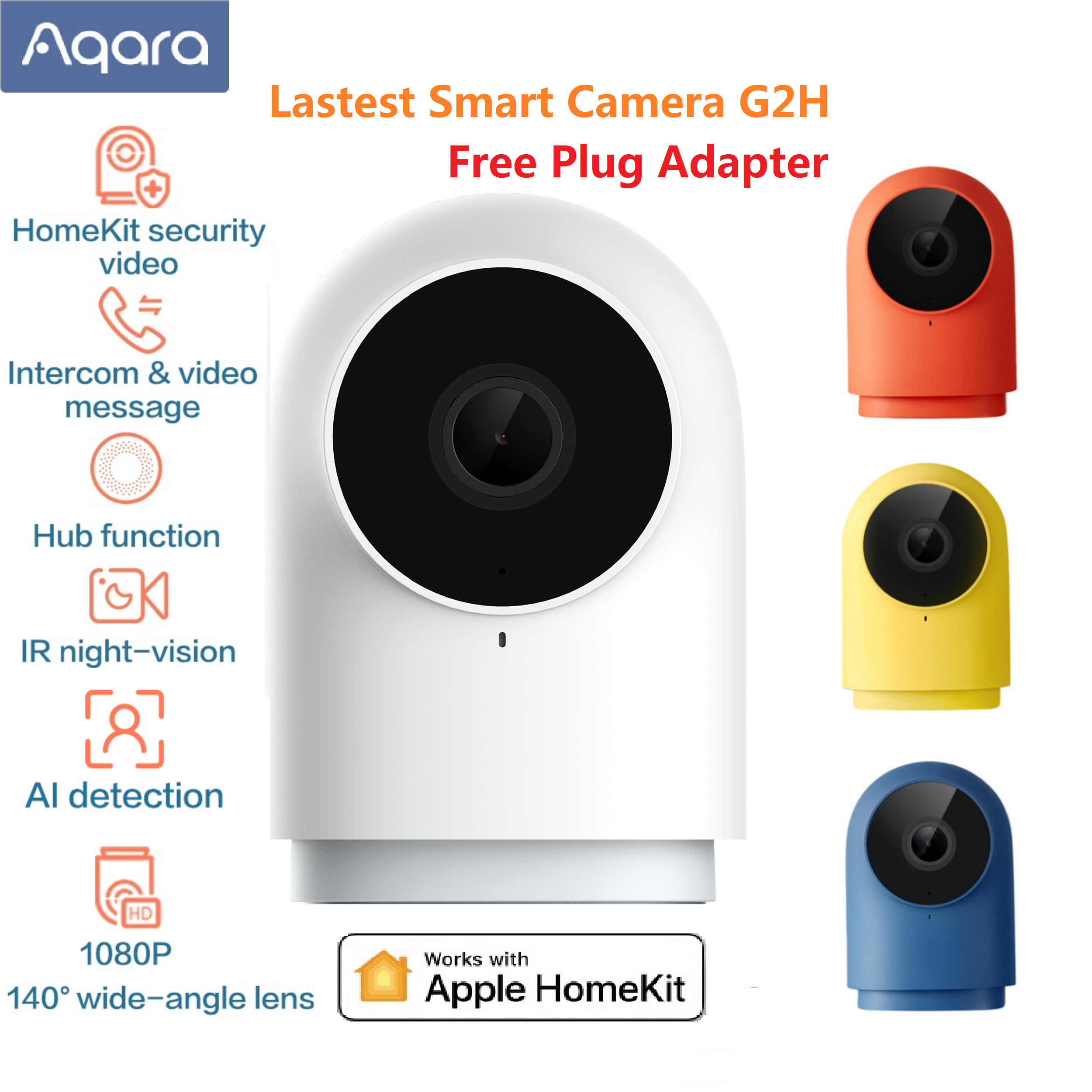Newest Aqara G2H Camera 1080P HD Night Vision Mobile For Apple HomeKit APP Monitoring G2 H Zigbee Smart home security Camera