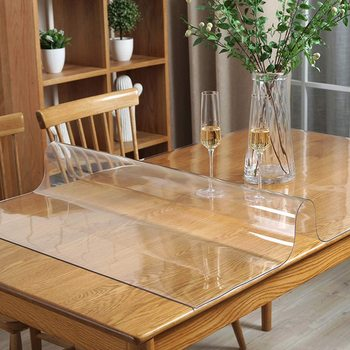 PVC Transparent Table Cloth kitchen pattern tablecloth glass soft cloth Rectangle Waterproof Oilproof cloth Table Cover 1.0mm цена 2017
