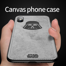 Fashion Built-in Magnetic Shockproof Silicone Soft Canvas Cloth Phone Case For Apple iPhone X XS XR MAX 7 8 Plus 6 Cover Fundas