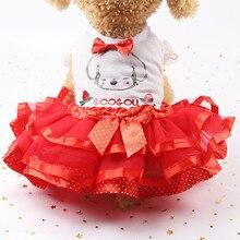 Летнее воздухопроницаемое платье принцессы для собак и кошек#3